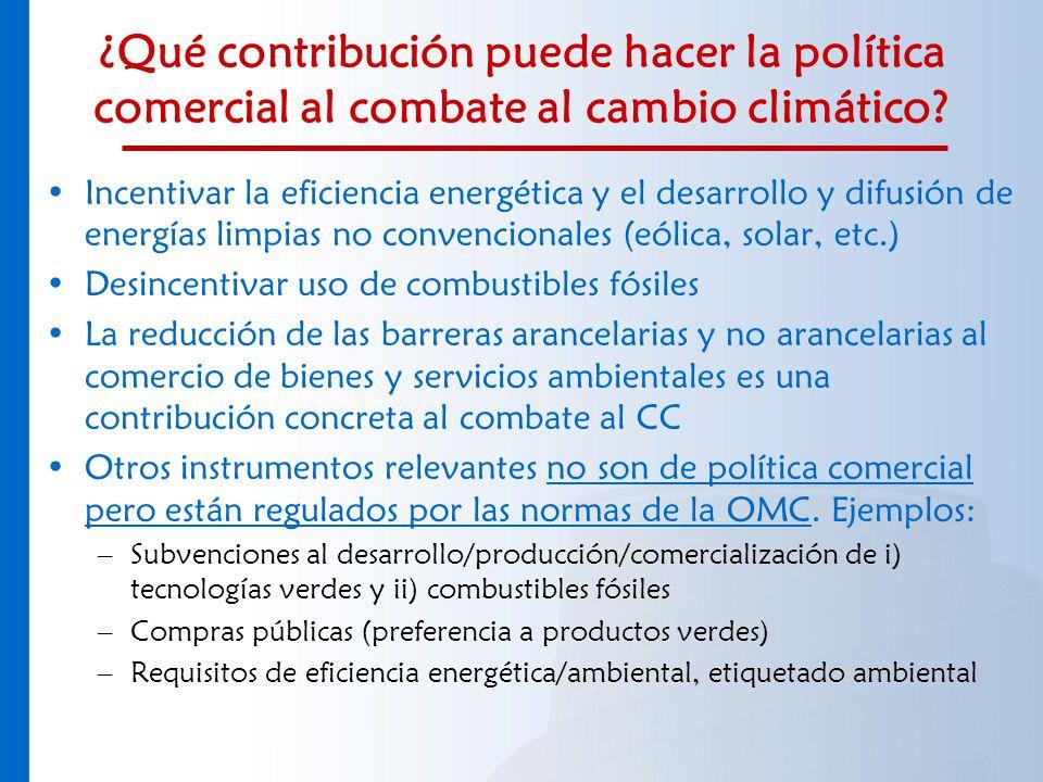 ¿Qué contribución puede hacer la política comercial al combate al cambio climático