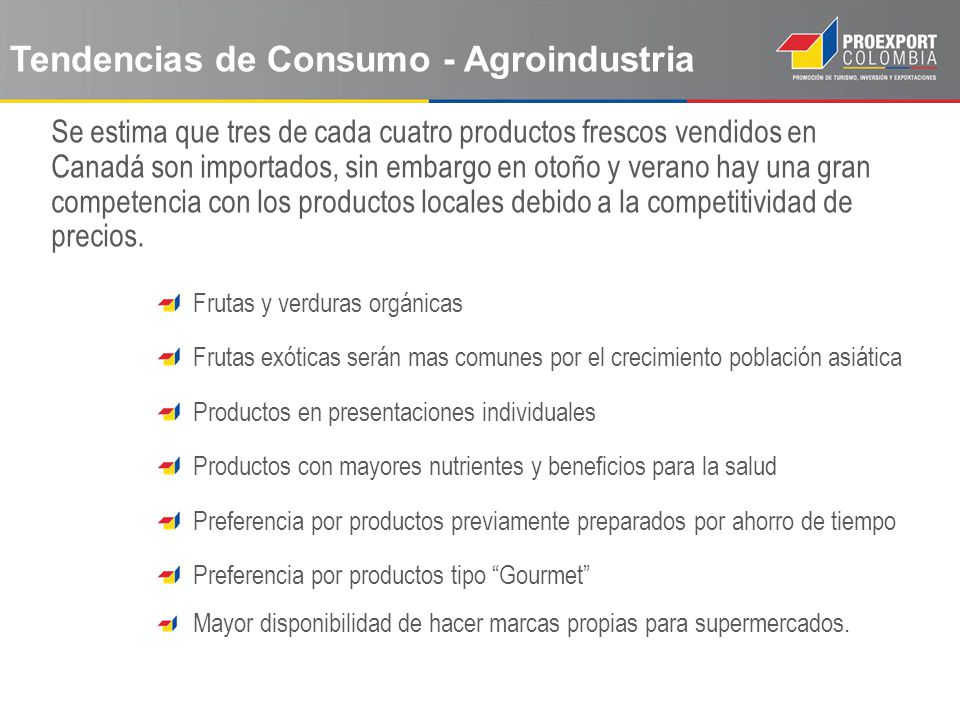 Tendencias de Consumo - Agroindustria