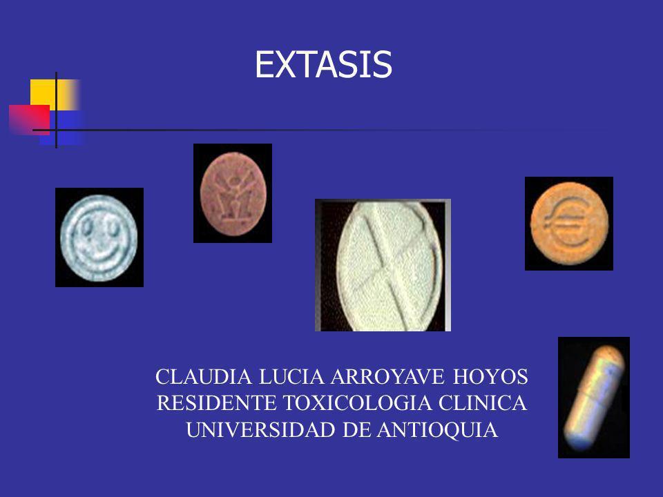 EXTASIS CLAUDIA LUCIA ARROYAVE HOYOS RESIDENTE TOXICOLOGIA CLINICA
