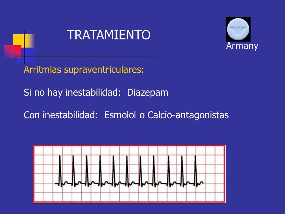 TRATAMIENTO Armany Arritmias supraventriculares: