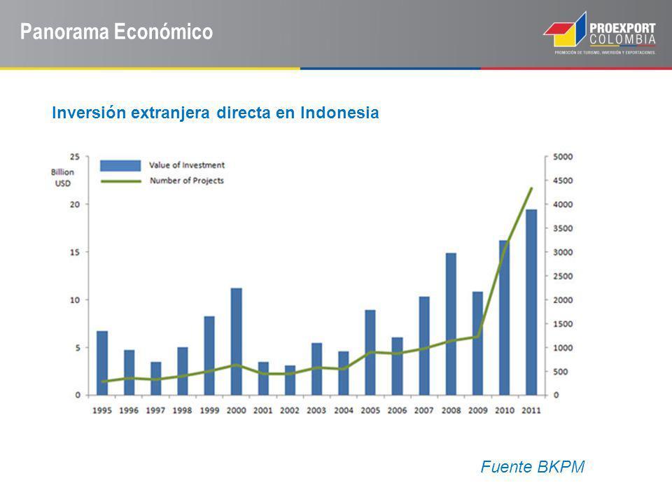 Panorama Económico Inversión extranjera directa en Indonesia