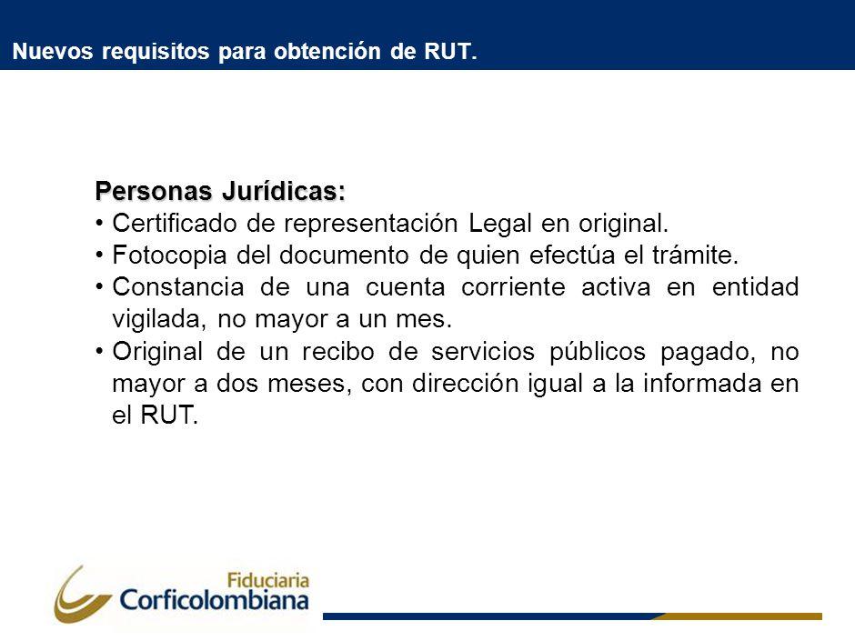 Nuevos requisitos para obtención de RUT.