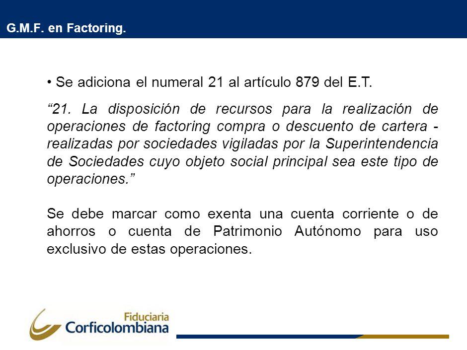 G.M.F. en Factoring.