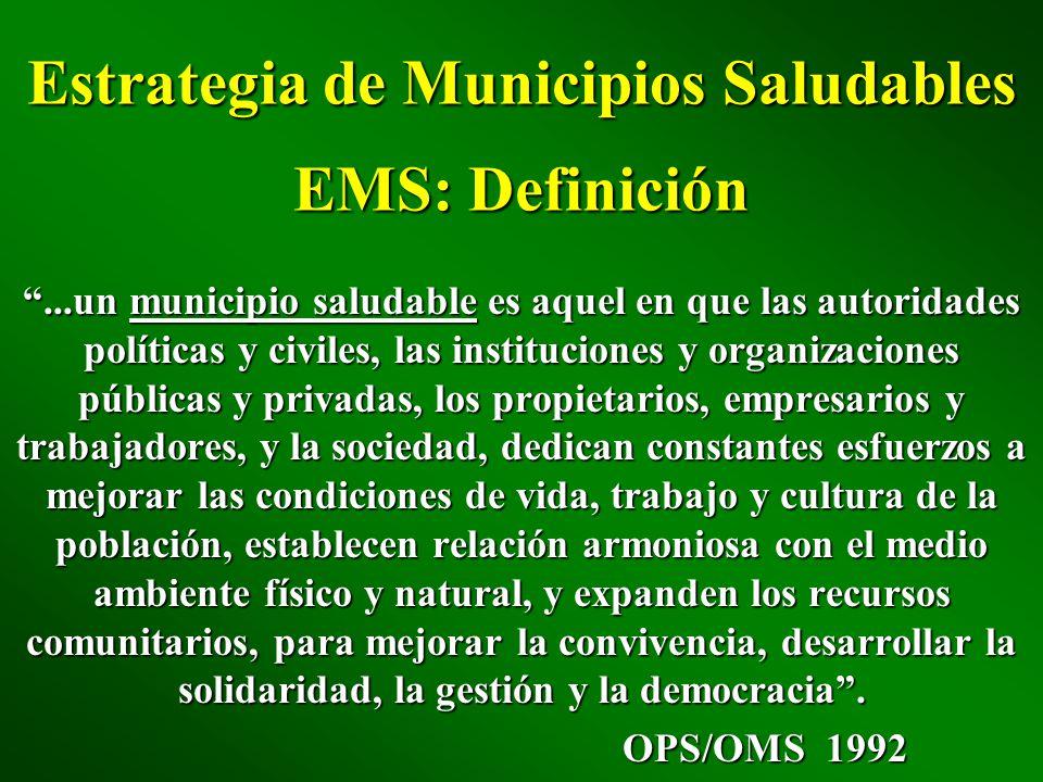 Estrategia de Municipios Saludables EMS: Definición