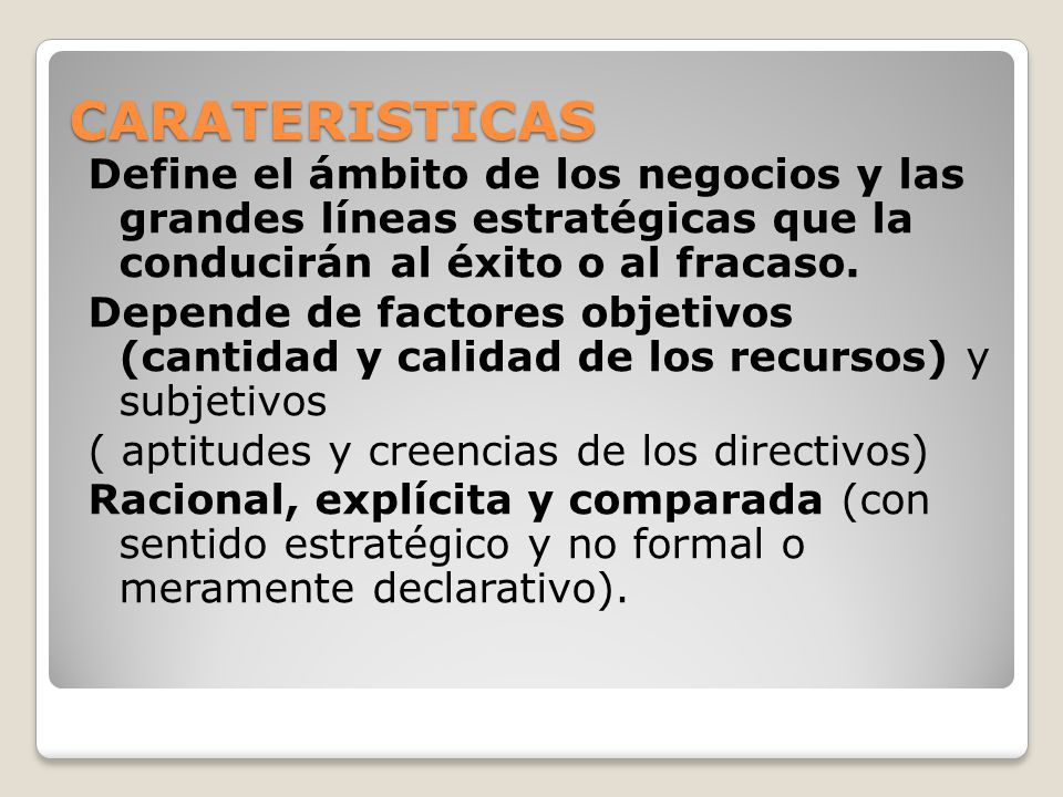 CARATERISTICAS