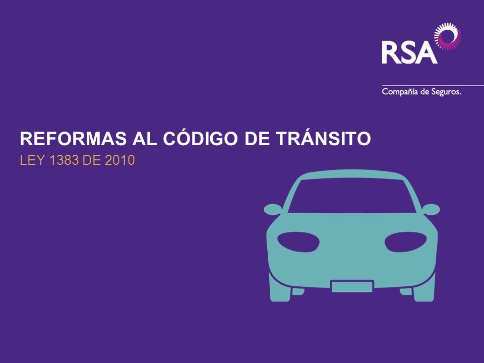 REFORMAS AL CÓDIGO DE TRÁNSITO
