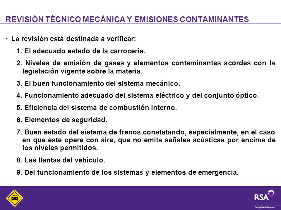 REVISIÓN TÉCNICO MECÁNICA Y EMISIONES CONTAMINANTES