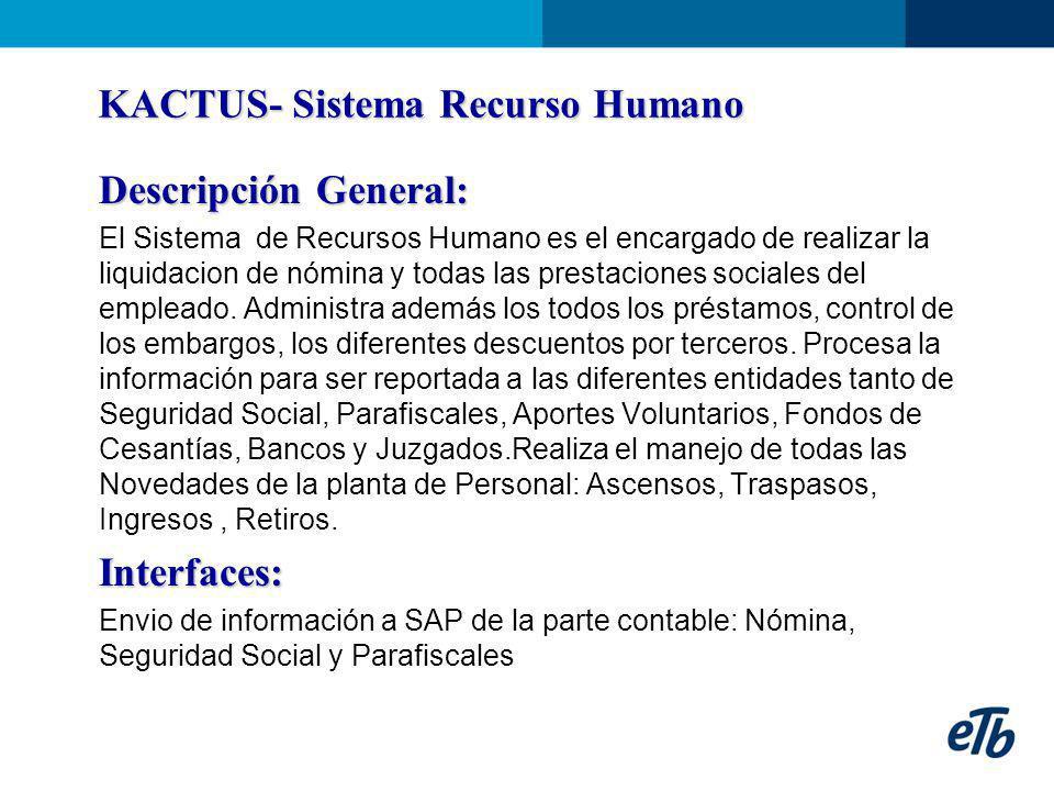KACTUS- Sistema Recurso Humano