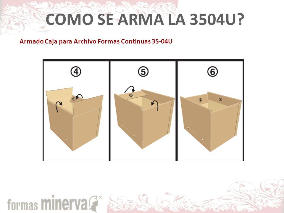 COMO SE ARMA LA 3504U Armado Caja para Archivo Formas Continuas 35-04U