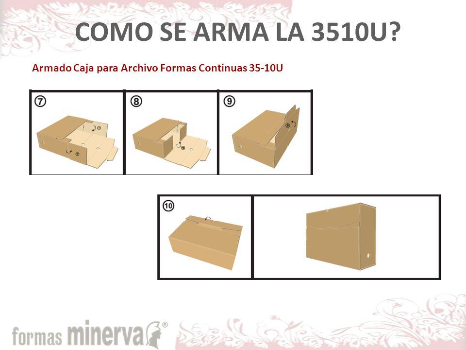 COMO SE ARMA LA 3510U Armado Caja para Archivo Formas Continuas 35-10U