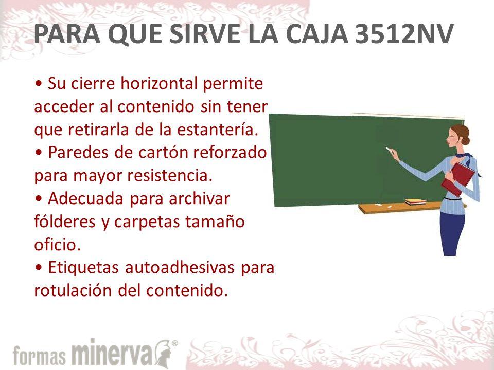 PARA QUE SIRVE LA CAJA 3512NV