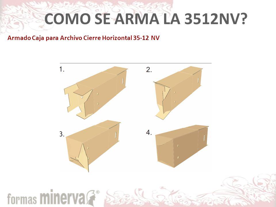 COMO SE ARMA LA 3512NV Armado Caja para Archivo Cierre Horizontal 35-12 NV