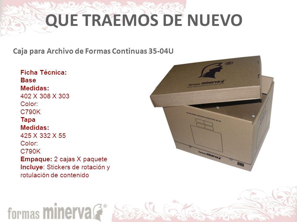 QUE TRAEMOS DE NUEVO Caja para Archivo de Formas Continuas 35-04U