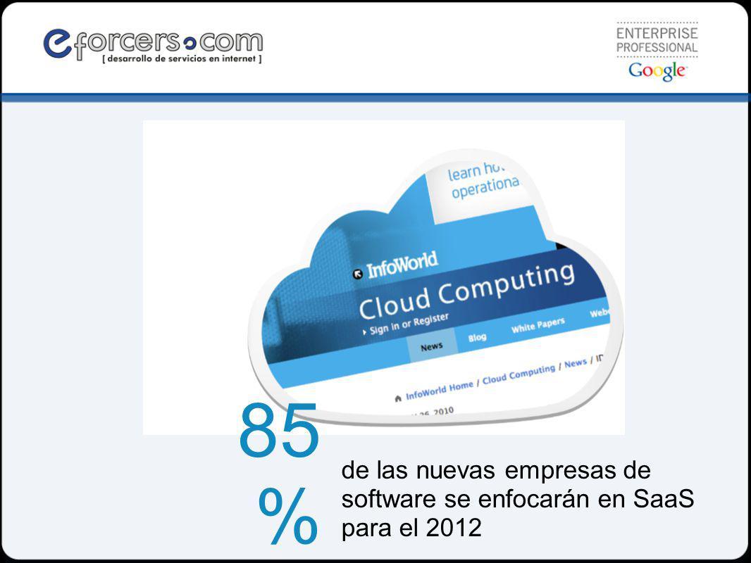 de las nuevas empresas de software se enfocarán en SaaS para el 2012