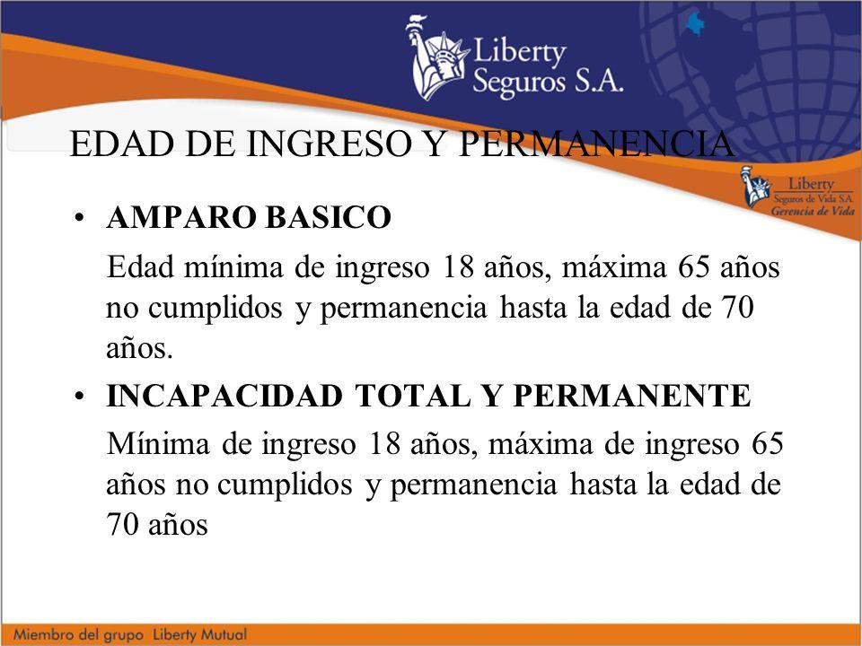 EDAD DE INGRESO Y PERMANENCIA