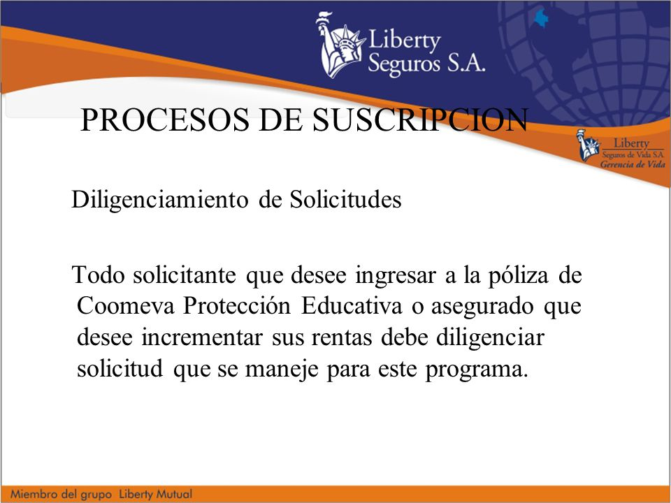 PROCESOS DE SUSCRIPCION