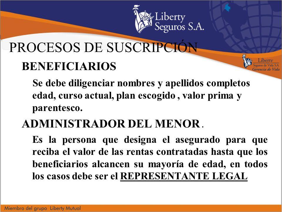 PROCESOS DE SUSCRIPCIÓN
