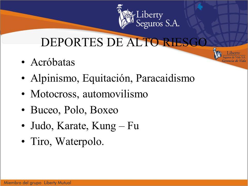 DEPORTES DE ALTO RIESGO