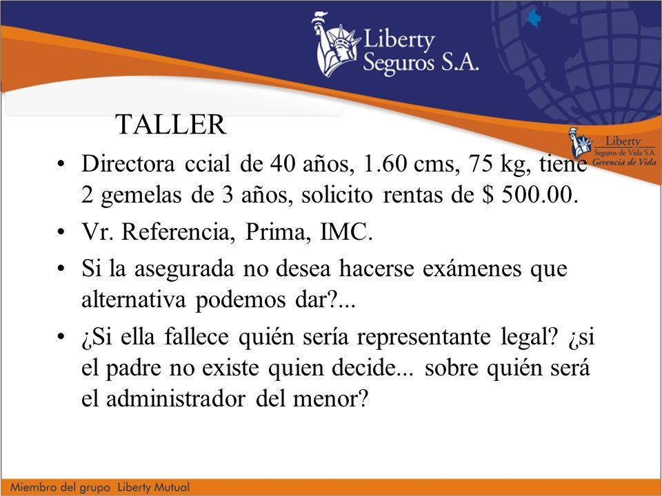 TALLER Directora ccial de 40 años, 1.60 cms, 75 kg, tiene 2 gemelas de 3 años, solicito rentas de $ 500.00.