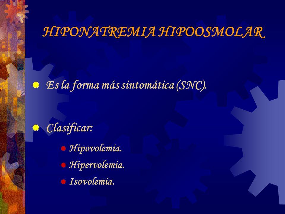 HIPONATREMIA HIPOOSMOLAR