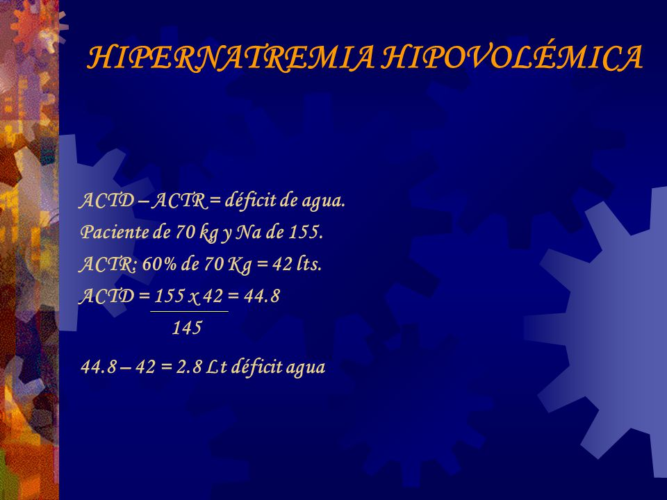HIPERNATREMIA HIPOVOLÉMICA