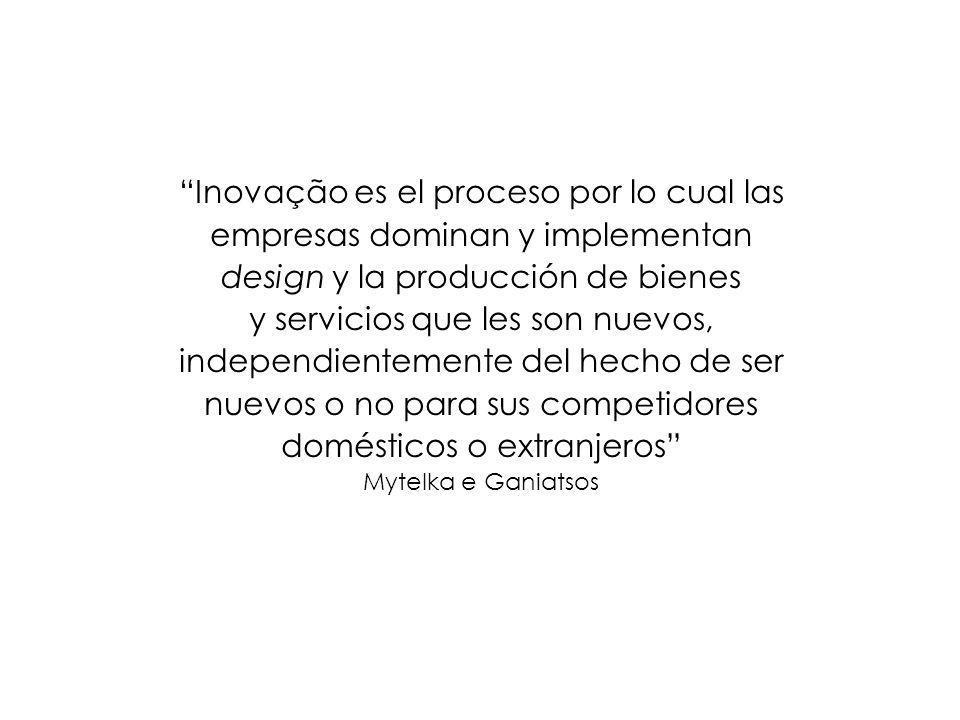 Inovação es el proceso por lo cual las empresas dominan y implementan