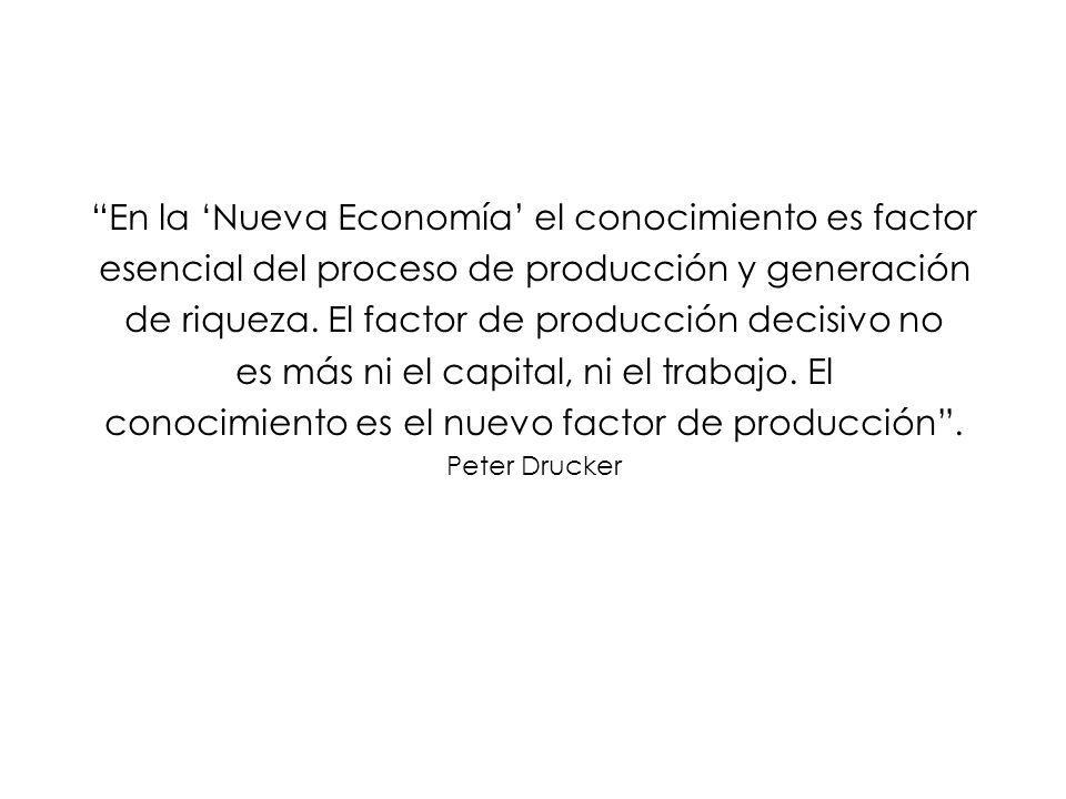 En la 'Nueva Economía' el conocimiento es factor