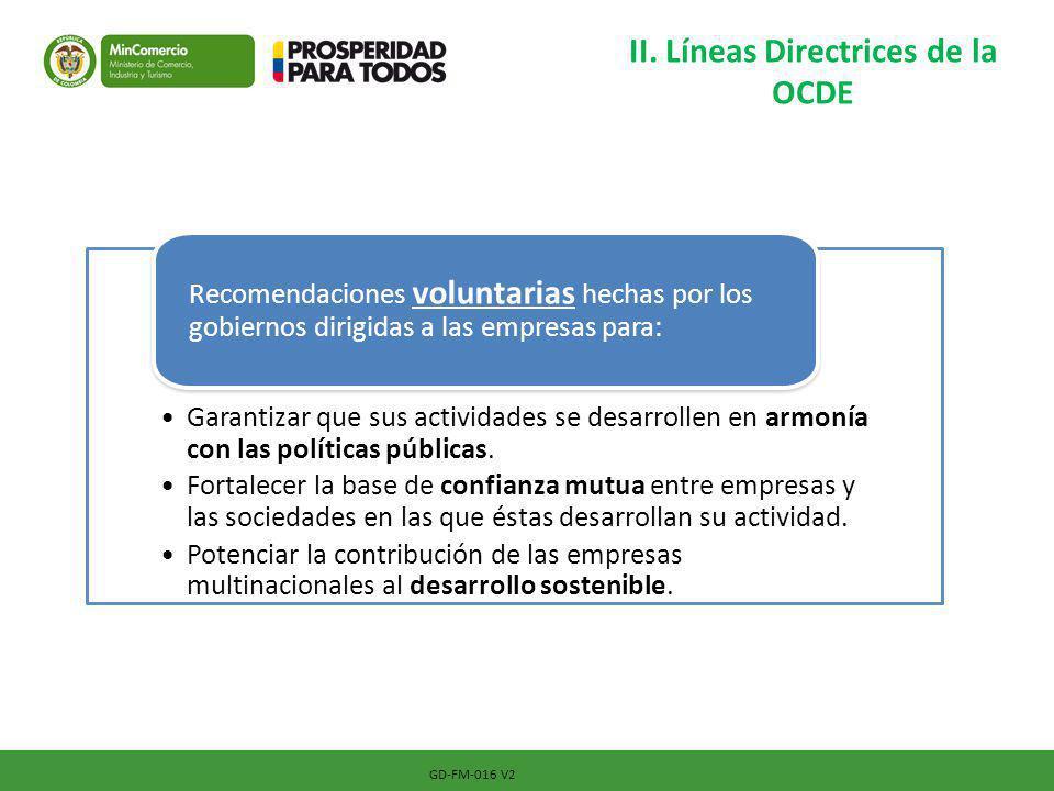 II. Líneas Directrices de la OCDE