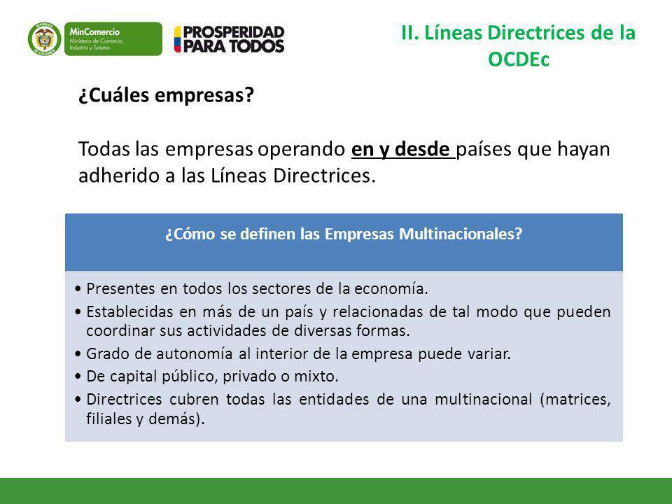 II. Líneas Directrices de la OCDEc