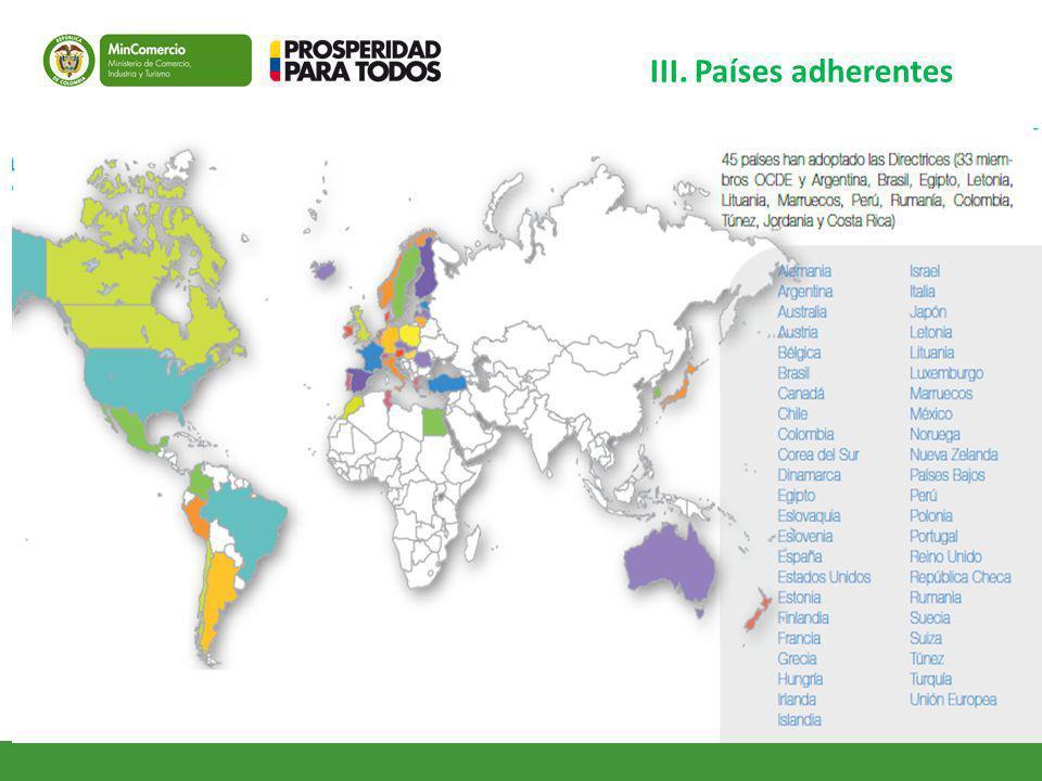 III. Países adherentes ESPECIAL FOCO EN LOS PNCS QUE NOS ACOMPAÑAN HOY.