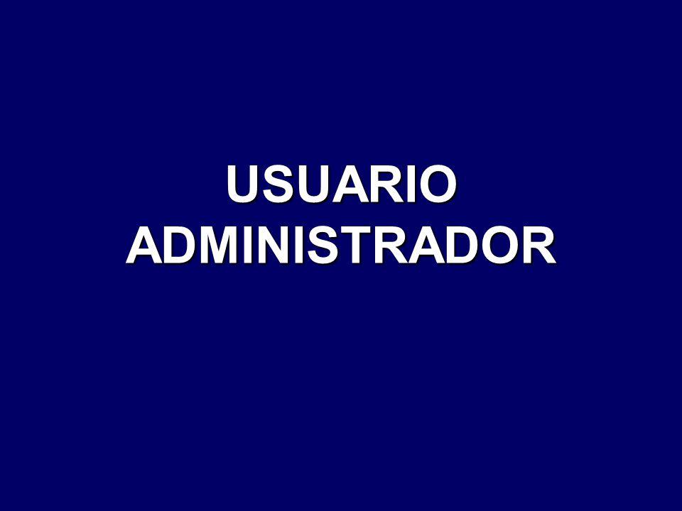 USUARIO ADMINISTRADOR