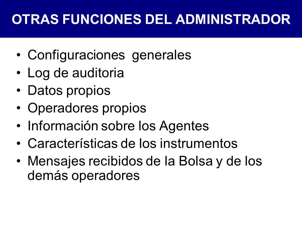 OTRAS FUNCIONES DEL ADMINISTRADOR