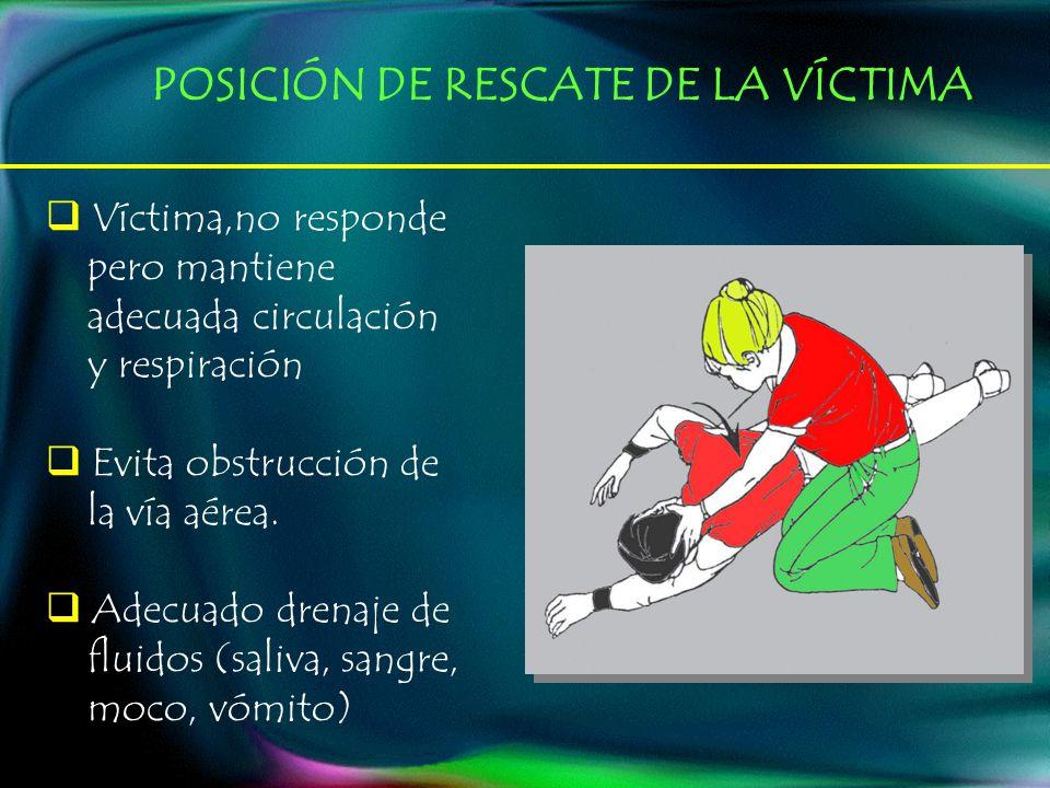 POSICIÓN DE RESCATE DE LA VÍCTIMA