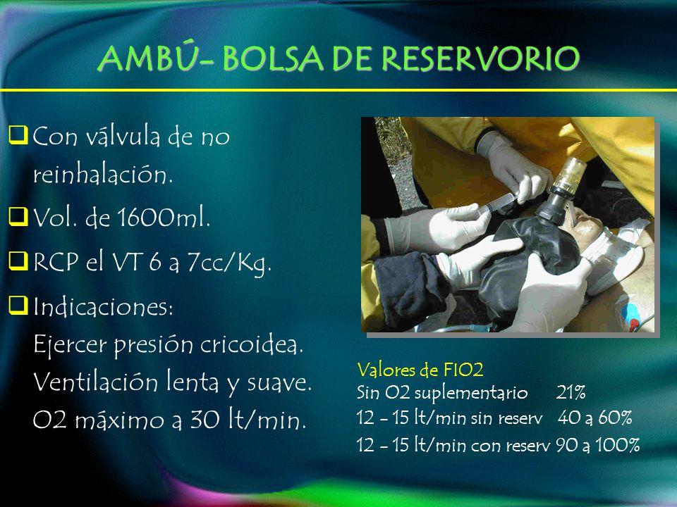 AMBÚ- BOLSA DE RESERVORIO