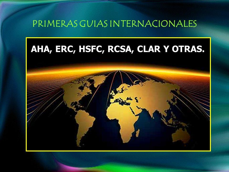 PRIMERAS GUIAS INTERNACIONALES