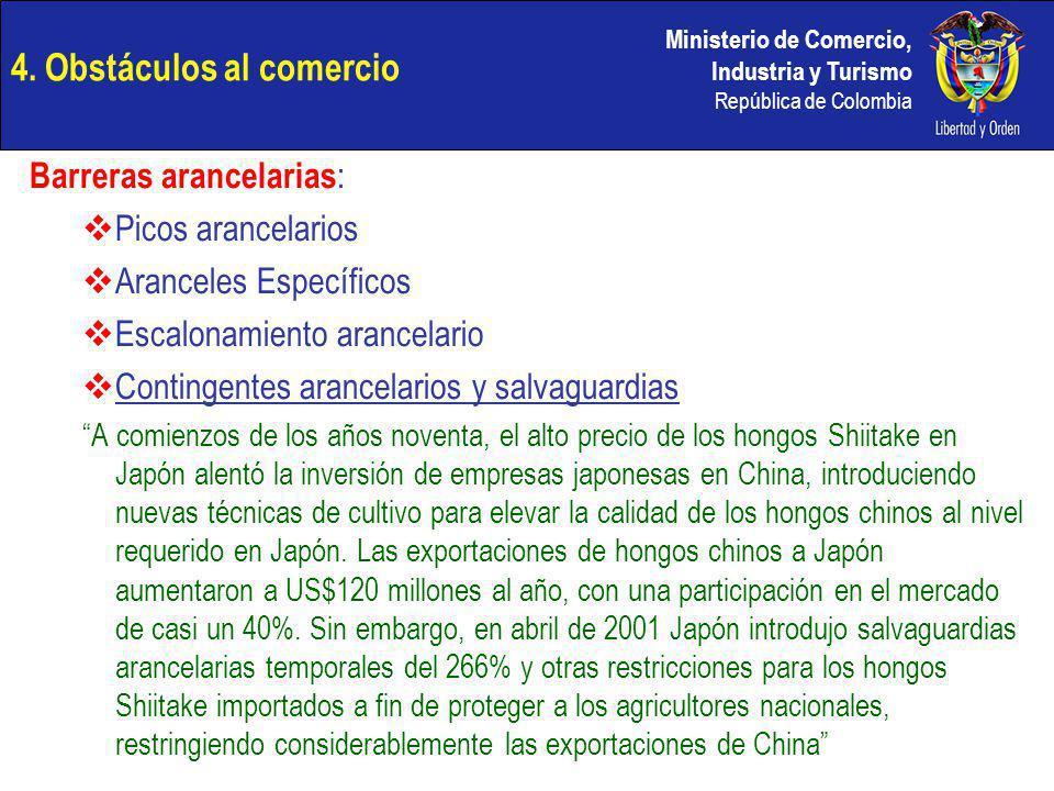 4. Obstáculos al comercio