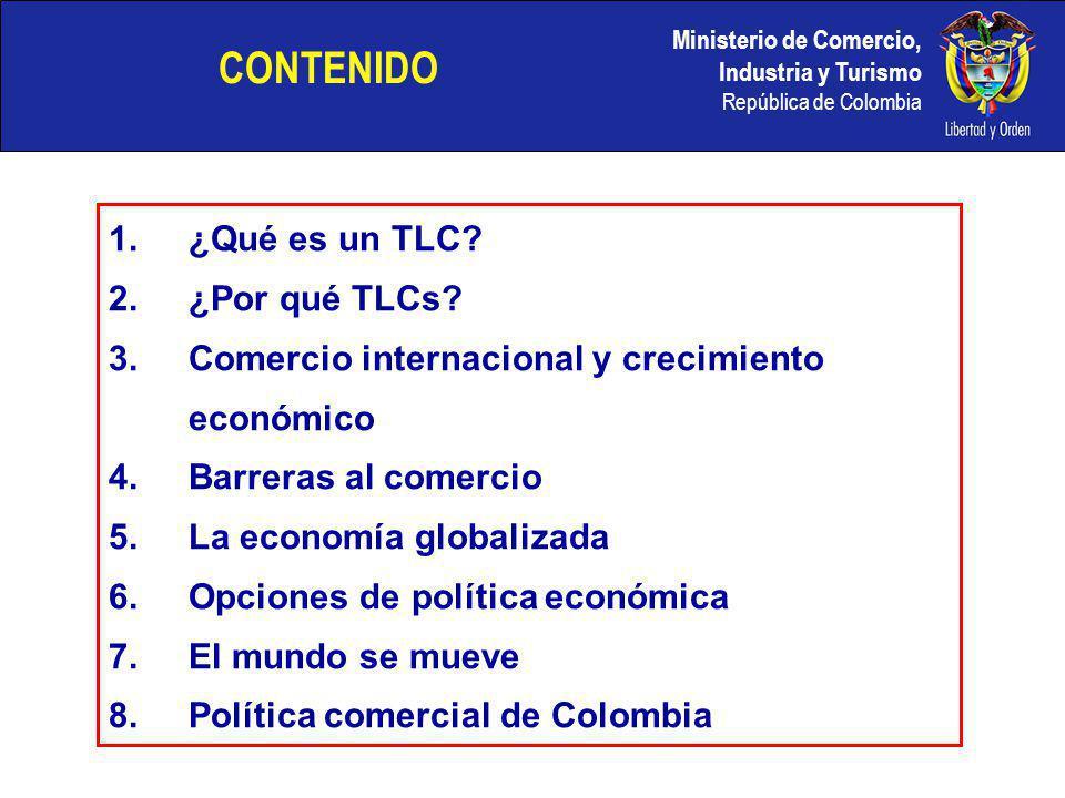 CONTENIDO ¿Qué es un TLC ¿Por qué TLCs