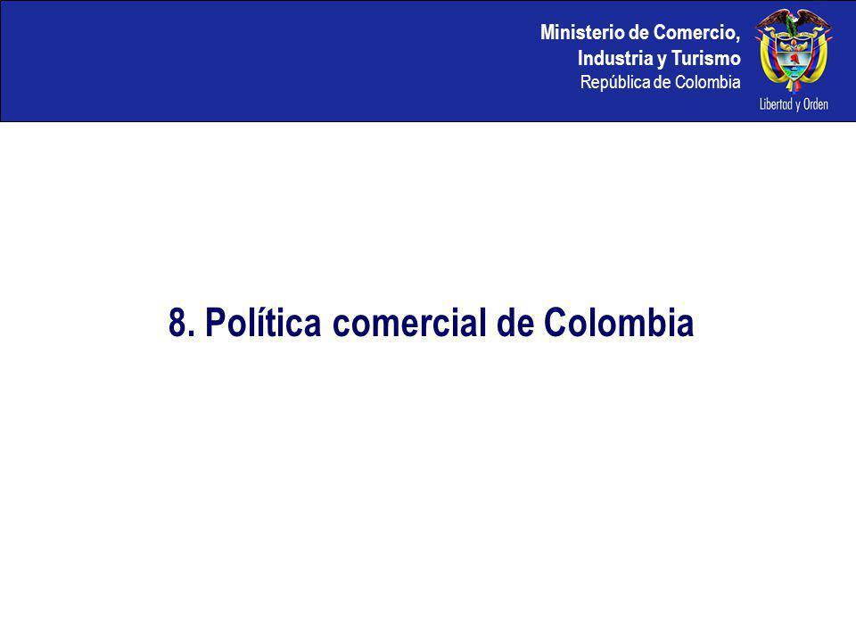 8. Política comercial de Colombia