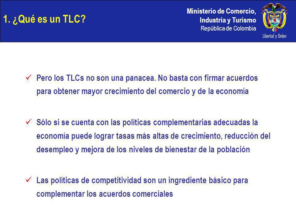 1. ¿Qué es un TLC Pero los TLCs no son una panacea. No basta con firmar acuerdos para obtener mayor crecimiento del comercio y de la economía.