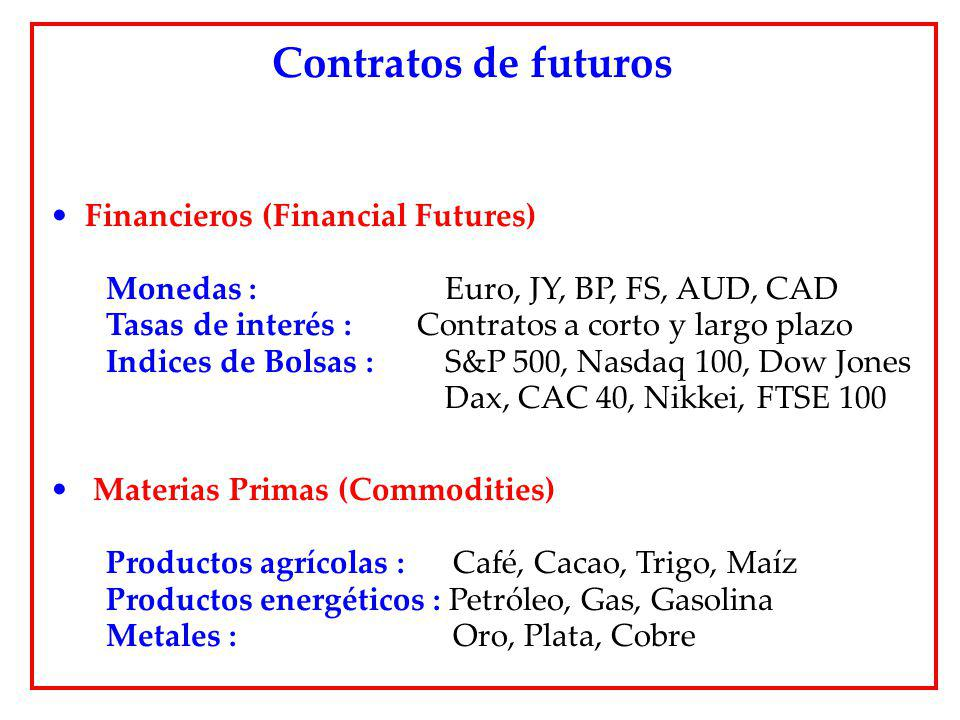 Contratos de futuros Financieros (Financial Futures)