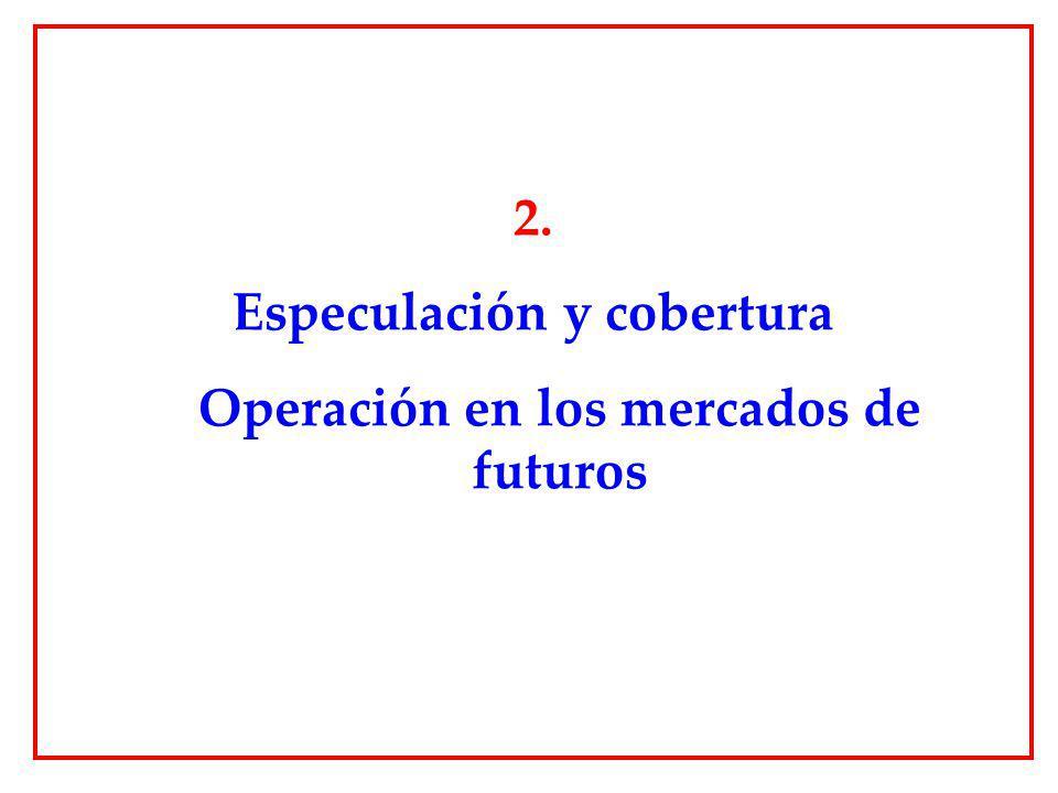 Especulación y cobertura Operación en los mercados de futuros
