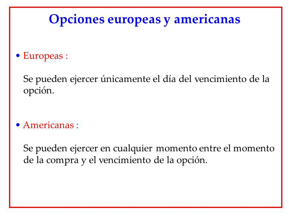 Opciones europeas y americanas