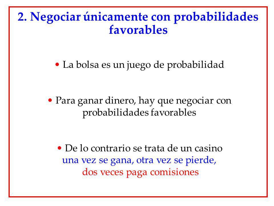 2. Negociar únicamente con probabilidades favorables
