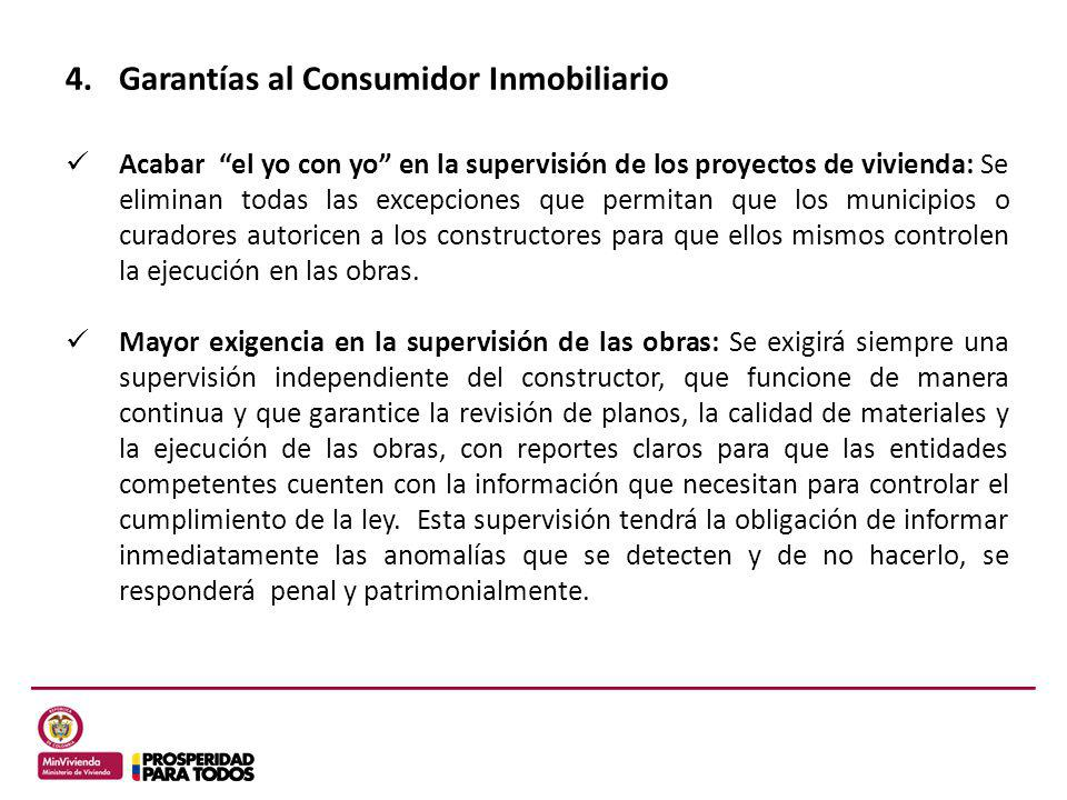 Garantías al Consumidor Inmobiliario