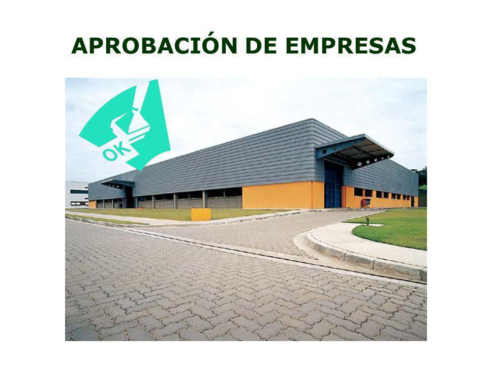 APROBACIÓN DE EMPRESAS