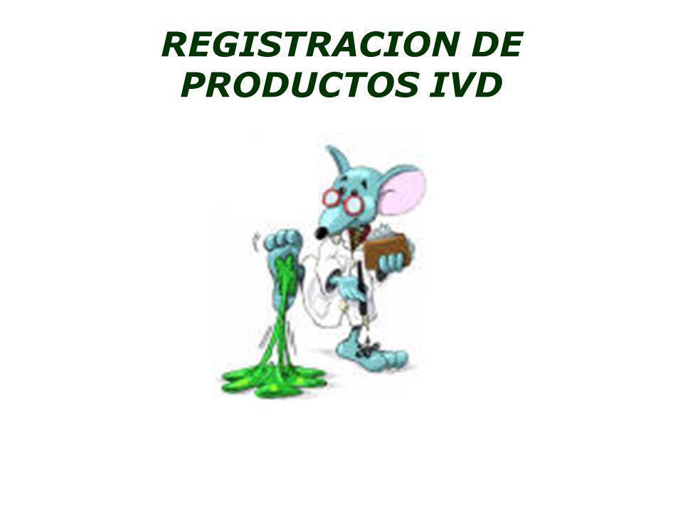 REGISTRACION DE PRODUCTOS IVD