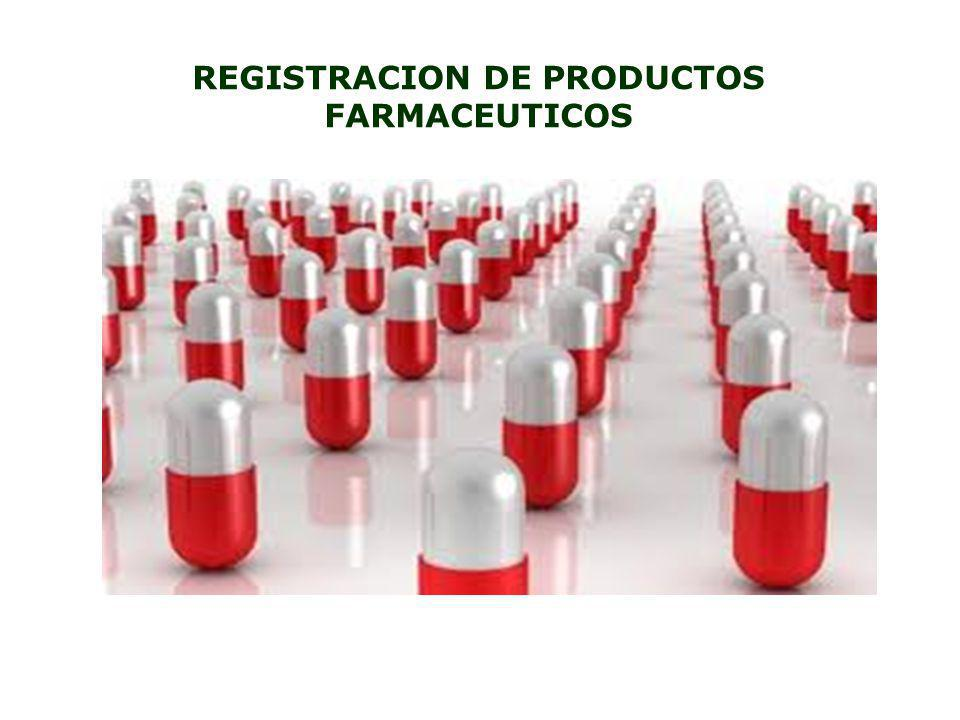 REGISTRACION DE PRODUCTOS FARMACEUTICOS
