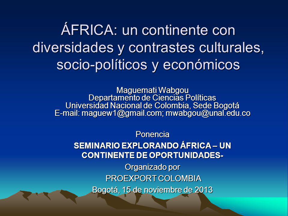 SEMINARIO EXPLORANDO ÁFRICA – UN CONTINENTE DE OPORTUNIDADES-