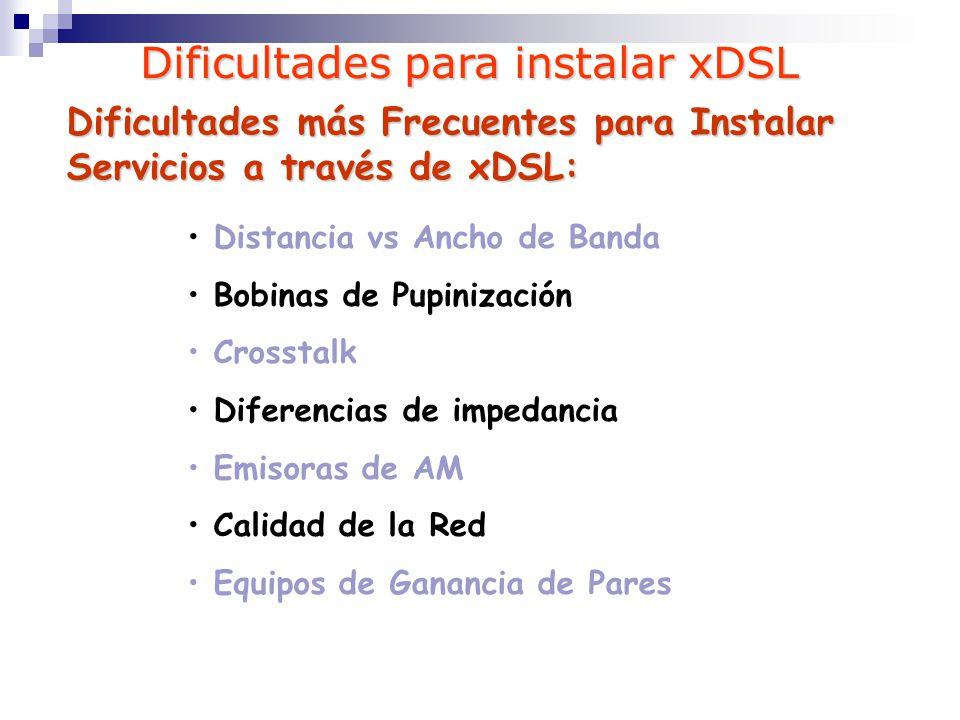 Dificultades para instalar xDSL