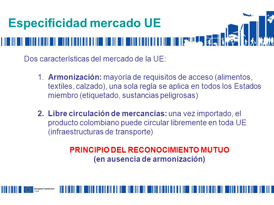 Especificidad mercado UE